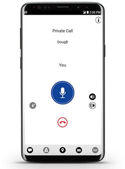 Motorola Wave PTX smartphone app